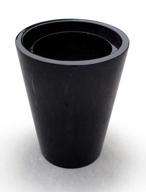 Cone Shape Planter with Insert (Black)