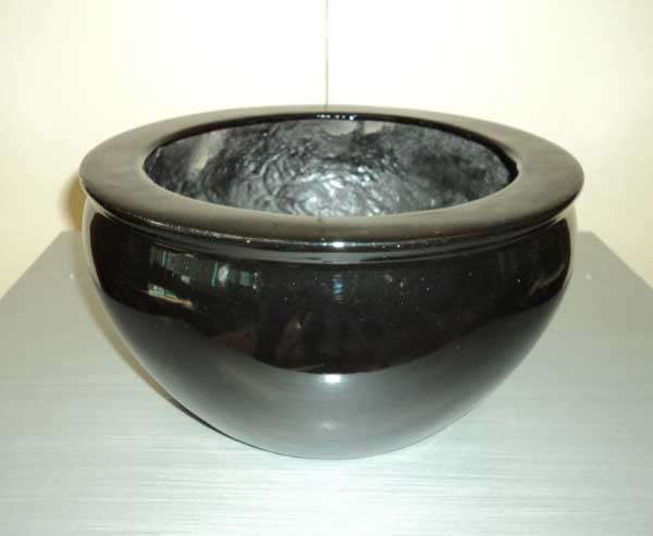 Squat Bowl Shape Desktop Planters(Black)